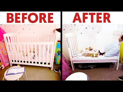 From Cot/Crib to Toddler's Bed: An Experiment