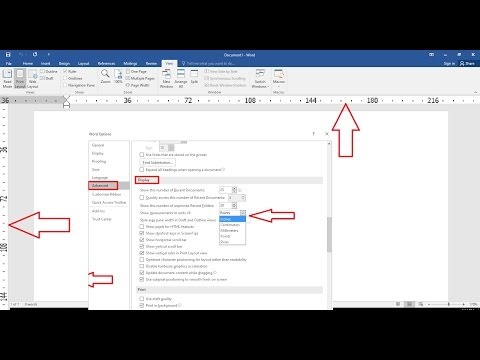 How to Change Ruler Measurement Units in MS Word (2003-2016)