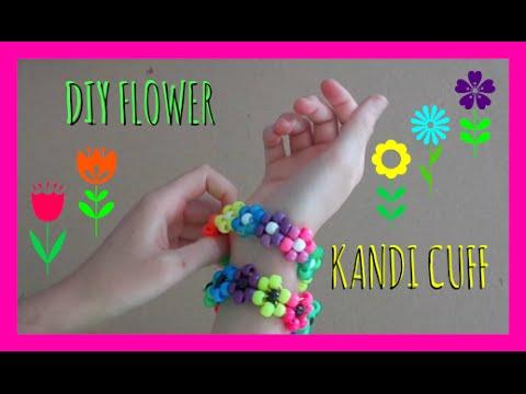 DIY Flower Kandi Cuff
