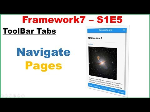Framework7 S1E5 : ToolBar Tabs - Pages with Images and Text