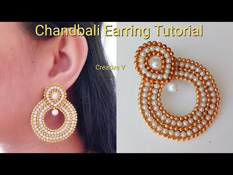 How to make Paper Earrings | made out of paper / Chandbali earring / Design 6