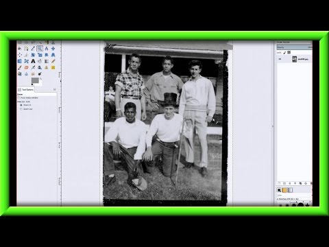How To Fix An Old Photo With Gimp Part V The Fuzzy Select Tool