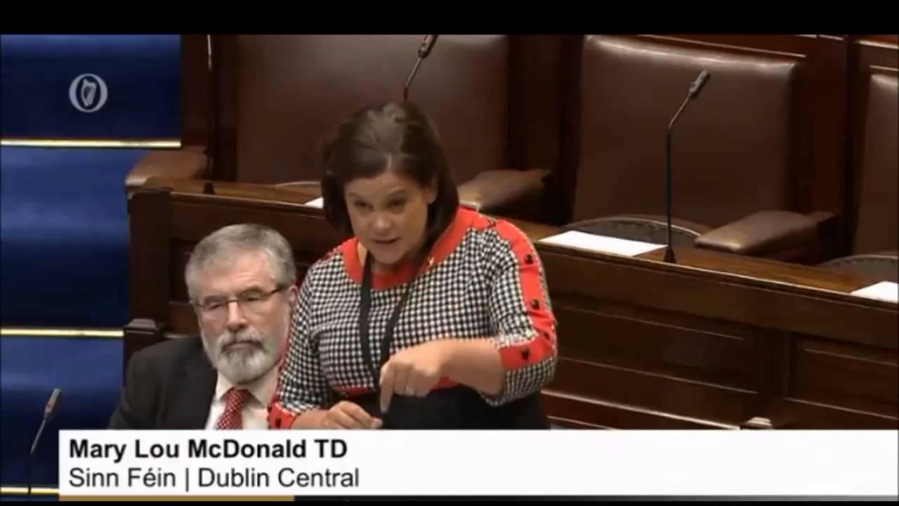 Dáil return: Mary Lou gets stuck into Taoiseach and his cronies