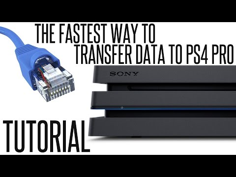 The FASTEST way to TRANSFER PS4 DATA to PS4 PRO - TUTORIAL