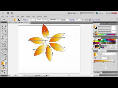 2.2 Applying Gradient Effects: Adobe Illustrator CS5