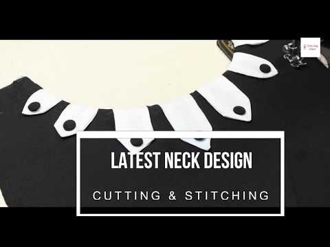 Easy Neck Design, Latest Neck Designs, New Neck Design cutting and Stitching