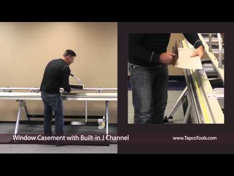 Bending a Window Casement with Built-in J-channel