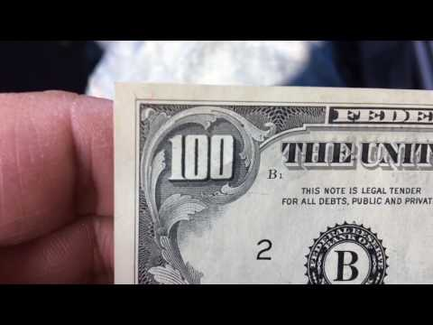 New Old 100 Dollar Bills Money Cash