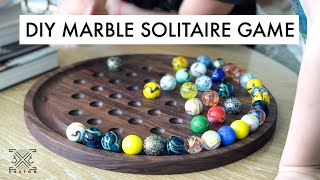 DIY Marble Solitaire Game - #BuildAtHome Project - Scrap Wood Challenge!