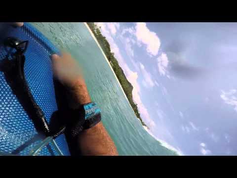 boogie boarding Wikiki Beach Sep 2015