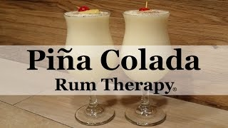 The official drink of Puerto Rico, the Piña Colada, has long been a favorite vacation drink. The taste of this Pina Colada Cocktail Recipe just reminds me of digging my toes in the warm sand and basking in the tropical sunshine…Watch this easy and very tasty recipe for this delicious tropical beverage and check out our website at http://www.rumtherapy.com for more refreshing rum recipes. Always drink responsibly.