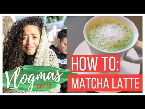 DAY IN THE LIFE AND HOMEMADE MATCHA LATTE WITHOUT A FROTHER || VLOGMAS 14, 2017