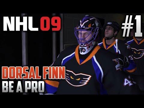 NHL 09 Retro Be a Pro | Dorsal Finn (Goalie) | EP1 | TURNIN' BACK THE CLOCK