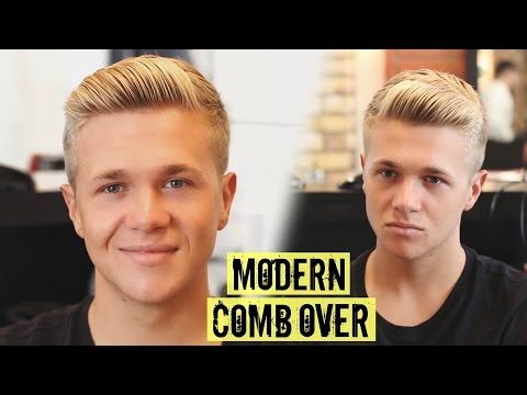 Mens Side Part / Comb Over Haircut & Hairstyle 2016 - Mens Hair
