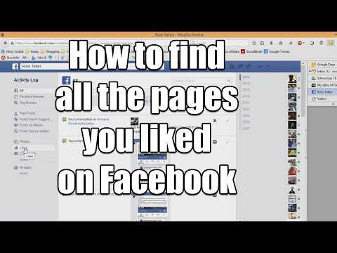 How to find all the pages you like on Facebook video
