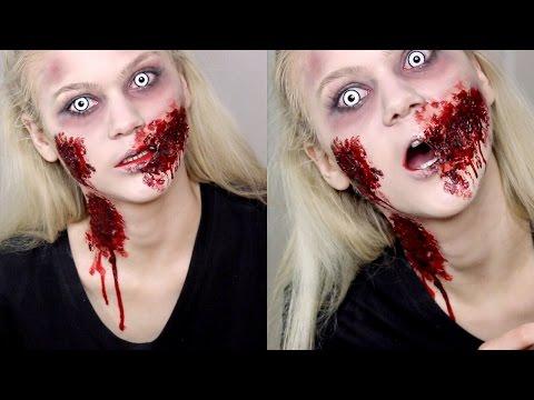 Zombie Girl SFX Makeup Tutorial | Halloween