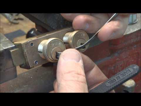 (122) Yale Safe Deposit Box Double Locks SPP'd