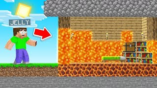 Trolling Jelly By Turning His House Into LAVA!