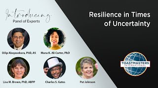 Resilience in Times of Uncertainty