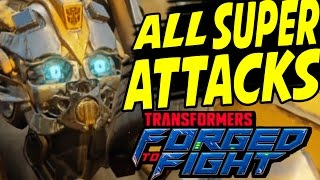 Transformers Forged to Fight - ALL SPECIAL ATTACKS - All Characters