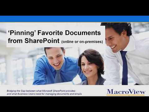 Pinning Favourite Documents in SharePoint