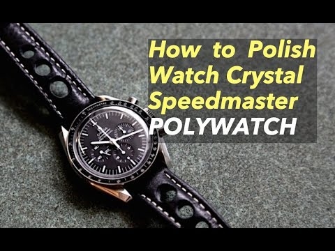 How to Polish Omega Speedmaster Seamaster Vintage Hesalite Crystal Repair DIY Polywatch Moon watch
