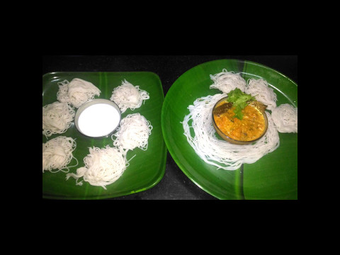 Idiayppam&kurma|Stringhoppers|How to make idiyappam in tamil(w/eng subtitle)|Noolappam-coconutmilk