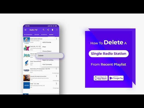 How To Delete A Single Radio Station From Recent Playlist || Radio FM