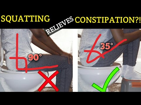 CONSTIPATION & TOILET SITTING POSTURE | BEST POOP POSITION | SQUATTING HOME REMEDY FOR CONSTIPATION