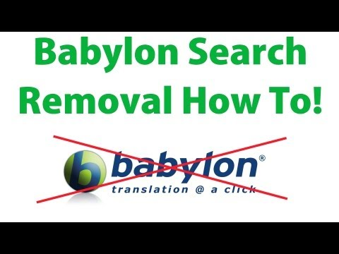 how to remove Babylon Search and other toolbar(s) the easy way! Internet Explorer, Firefox & Chrome
