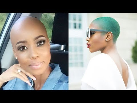 20 Wicked Shaved Hairstyles for Black Women - Bald Haircuts For Black Women 2018