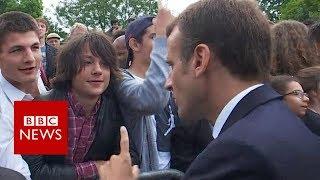 Macron tells teen to call him