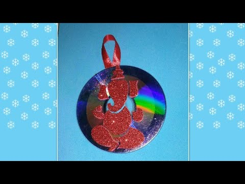Ganesh chaturthi special|school project/craft idea|diy:recycled old CD wall hanging| decoration idea