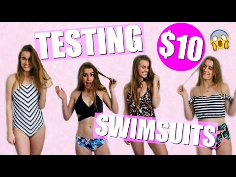 TESTING SWIMSUITS UNDER $10!