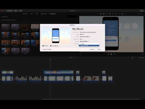 how to export imovie videos in highest quality possible?