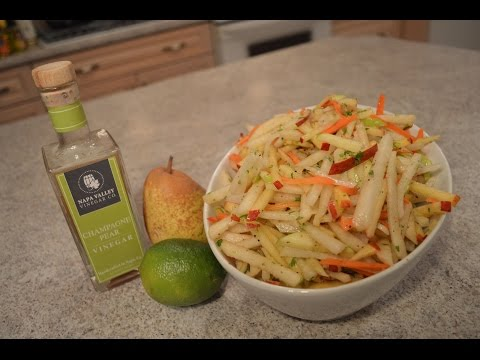 How to Make Jicama, Apple & Pear Slaw: Wine Country Kitchens with Kimberly