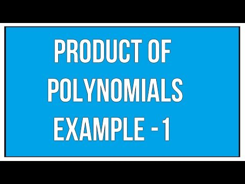 Product Of  Polynomials Example - 1 / Maths Algebra