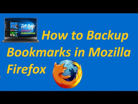 How to Backup and Restore Bookmarks in Mozilla Firefox