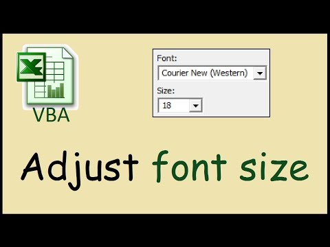 How to change the VBA Editor's font size (Excel)