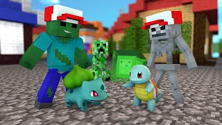 Minecraft - TREINADORES POKÉMON - Escola Monstro #68 | Monster School