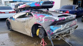 DESTROYED MY LAMBO! Regret driving it in the mud...
