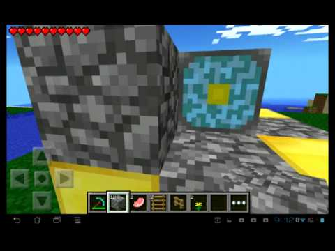 how to build a nether portal in minecraft PE