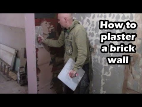 How to plaster a brick wall  How to apply base coat of bonding on bricks