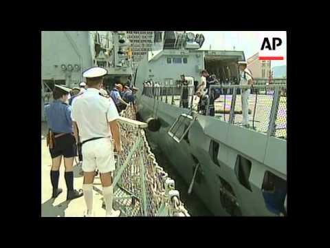 HONG KONG: BRITISH & FRENCH NAVY SHIPS VISIT