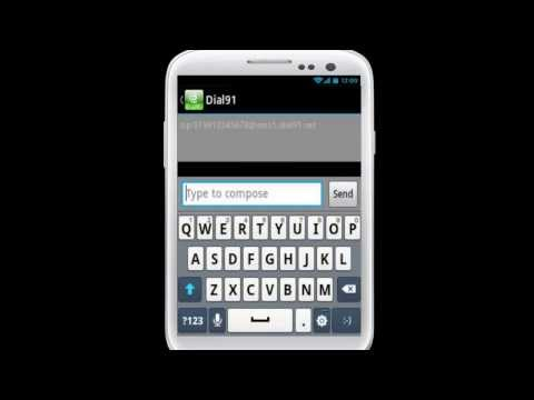 How to send SMS using dial91 Android App?