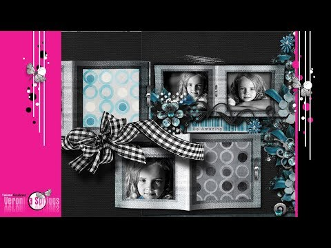 Digital Scrapbook Tutorial - How To Create a Folded Frame Digital Scrapbook Embellishment