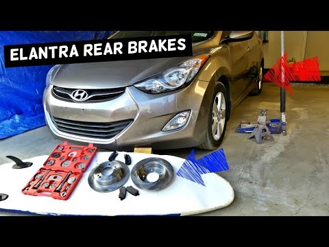 HOW TO REPLACE REAR BRAKE PADS AND DISC ROTOR ON HYUNDAI ELANTRA