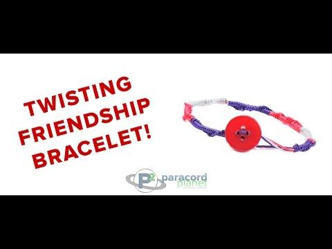Paracord Tutorial: How To Make A Twisting Friendship Bracelet