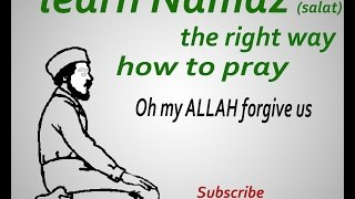 learn Namaz how to pray (salaat) the right way with positions
