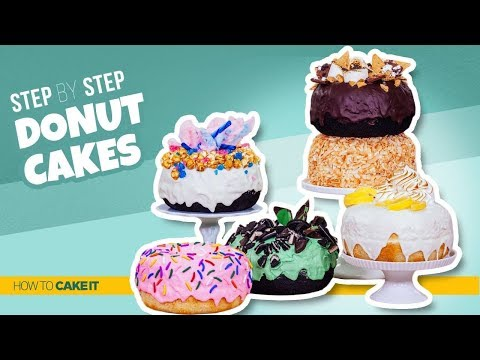 How To Make GIANT Donut CAKES | Step By Step | How To Cake It